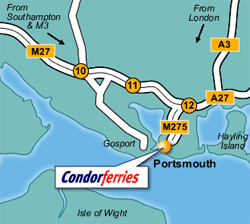 Portsmouth Ferry Port Map